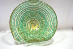 Murano Hand Blown Bubble Glass Bowl Zebrati Barovier and Toso 1960  - pinned by pin4etsy.com