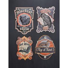 Spooky Apothecary Tin Halloween Signs. Halloween Decorations at TheHolidayBarn.com
