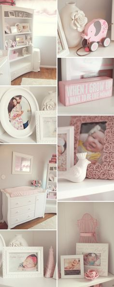 Pink, Gray, and White Nursery @Lauren McBride