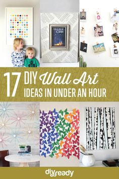 DIY Wall Art You Can Make in Under an Hour DIYReady.com | Easy DIY Crafts, Fun Projects, & DIY Craft Ideas For Kids & Adults