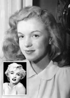 Norma Jean (Marilyn Monroe) celebrity actress (1926–1962). Transformation from 'Plain Jean' to megastar. #famous_people#vintagephoto