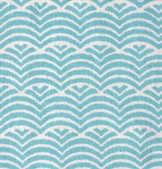 Umbrella Prints - Waves in Bakelite Blue on organic quilters weight cotton