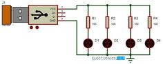 Here is the simple USB LED Light circuit diagram and its working. It produces an output of It may be used as emergency light and also as a reading lamp. Led Projects, Electrical Projects, Arduino Projects, Electronics Basics, Electronics Projects, Electronic Engineering, Electrical Engineering, Usb Lamp, Electronic Schematics