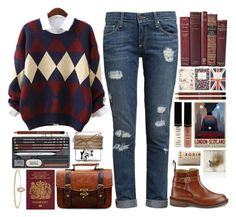 """Langley"" by wanderlust197 ❤ liked on Polyvore featuring Paige Denim, Tricker's, Retrò, Jack Wills, Borghese, Polaroid, Lord & Berry and Rodin"