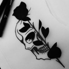 Our Website is the greatest collection of tattoos designs and artists. Find Inspirations for your next Skull Tattoo. Search for more Tattoos. Kunst Tattoos, Neue Tattoos, Skull Tattoos, Body Art Tattoos, Tatoos, Skull Tattoo Design, Small Skull Tattoo, Skeleton Tattoos, Angel Tattoo Designs