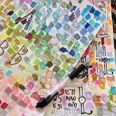 doodling with copic markers by pam garrison on flickr