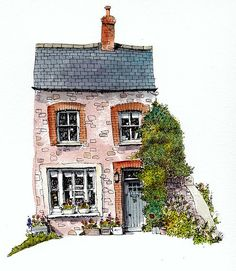 New house drawing watercolor illustration ideas - New house drawing watercolor illustration ideas - # <-> Art And Illustration, Building Illustration, Watercolor Illustration, Design Illustrations, Watercolor Sketch, Watercolor Paintings, Watercolor Ideas, Chris Lee, Drawing Sketches