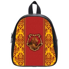 LaHuo Harry Potter Gryffindor Custom Design Primary Pupils' School Bag School Children Backpack (Small) White