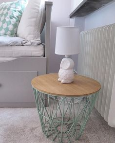 Ferm LIVING Wire Basket And Top: In Dusty Green