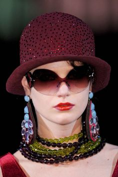 57fa5b54d91 Emporio Armani Fall 2013 Hats Accessorize Hats