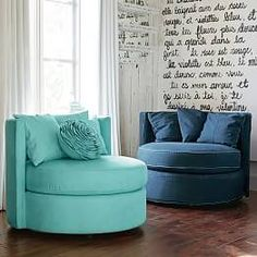 Create a comfy hangout space with Pottery Barn Teen's lounge seating and teen lounge chairs. Shop teen room chairs in many styles, and colors. Cozy Chair, Chair Bed, Swivel Chair, Tire Furniture, Bedroom Furniture, Recycled Furniture, Furniture Design, Handmade Furniture, Furniture Decor