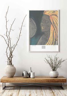 VuorjokiDesign-poster-art-print-50×70-B24-MirrorMirror-shop Night Sky Moon, Night Skies, Wall Art Prints, Fine Art Prints, Botanical Wall Art, Plant Illustration, Figurative Art, Watercolor Paintings, Sage