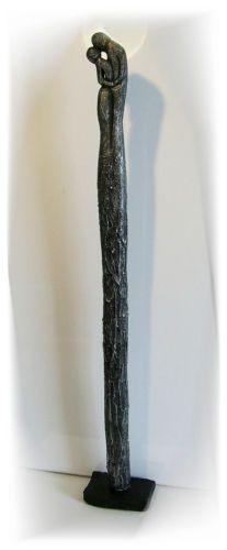 KunstgalerieWinkler-Skulptur-XL-Silber-Paar-Deco-Figur-Abstrakt-Menschen-Unikat