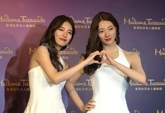 Who is the real Suzy ? Suzy amazed figure of wax arriving at Madame Tussauds Hong Kong