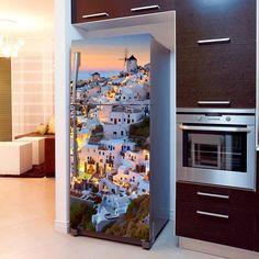 Fototapeta na lodówkę - Santorini | Fridge wallpaper - Santorini | 51,60PLN #fototapeta #fototapeta_lodówka #dekoracja_lodówki #wystrój_kuchni #dekoracja_kuchni #santorini #miasto #kraojobraz #panorama photograph_wallpaper #fridge_wallpaper #fridge_decor #fridge_design #kitchen_decor #kitchen_design #design #decor