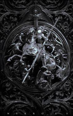 "The art of Nekro - ""Three circles of hell"""