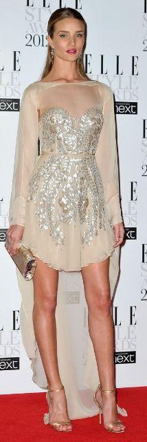 Rosie Huntington-Whiteley: Antonio Berardi dress // Edie Parker clutch