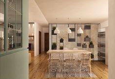 Grey Shelves, Kitchen White, Concept Architecture, Lamps, Furniture Design, Chairs, Minimalist, Contemporary, Interior Design
