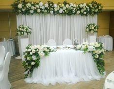 Head Table Wedding, Wedding Stage, Wedding Ceremony, Outdoor Wedding Decorations, Backdrop Decorations, Wedding Centerpieces, Bride Groom Table, Wedding Backdrop Design, Wedding Mint Green