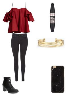 Untitled #26 by crazy-lovs on Polyvore featuring polyvore, Anna October, Maison Scotch, Stella & Dot, Maybelline, fashion, style and clothing