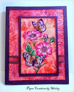 Chocolate Baroque Design Team: Vibrant Flowers and Butterflies (by Shirley)