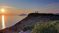 Sunset at cape Sounio #Athens Apollo temple #travel & learn in #Greece #history #art #culture http://www.greekphilosophytour.gr/