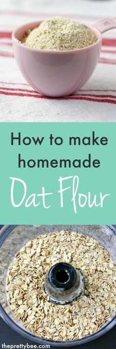 How to make homemade oat flour. It's easy, economical, and works well for cookies, cakes, and muffins!