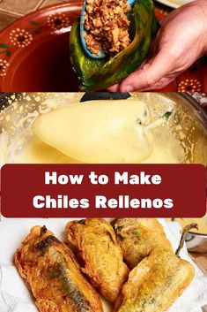 Authentic Chiles Rellenos Recipe [Step-by-Step] How to make authentic chiles rellenos, Poblano chiles stuffed with a savory pork filling and topped with a brothy tomato sauce. Chiles Rellenos are one of the best known and loved Mexican recipes. Authentic Mexican Recipes, Mexican Food Recipes, Dinner Recipes, Best Mexican Food, Mexican Desserts, Mexican Party, Stuffed Chili Relleno Recipe, Rellenos Recipe, Chilli Relleno Recipe