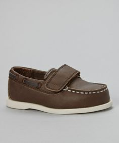 Another great find on #zulily! Brown & Ivory Archie Loafer by Carter's #zulilyfinds