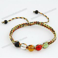 Handmade Weaving Crystal Decorated Bracelet