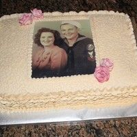 The Was Made For Our Family Reunion The Pic Was Of The Grandparents Now Both Deceased When They Were First Married French Vanilla Cake on Cake Central Family Reunion Cakes, French Vanilla Cake, Cake Central, Gum Paste, Grandparents, Pastel, Party Ideas, Desserts, Cakes