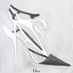 Dior SS 2014 illustrated by Mats Gustafson - 1 l #watercolor