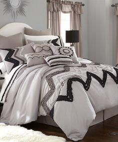 Look at this #zulilyfind! Gray Zigzag 24-Piece Comforter Set #zulilyfinds