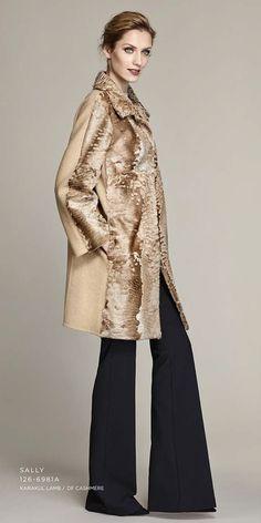 double face cashmere karakul lamb coat