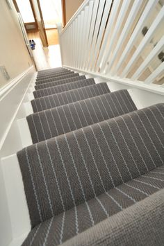 Hartley & Tissier Stripes Flatweave CF07 Stair runner carpet. Mix it up with flatweave and tufted carpet, all found on our webiste www.hartleytissier.com