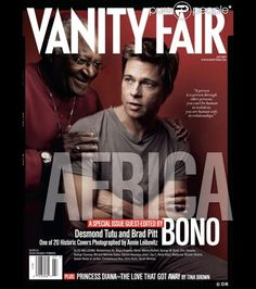 VANITY FAIR BRAD PITT | Brad Pitt et Desmond Tutu en 2007.