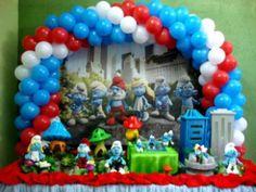 Espaço Infantil Decoração Festa Infantil Tema Smurfs - Espaço Infantil