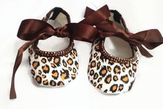 Leopard Baby Girls Size 9-18 Months Black Brown Satin Ribbon Shoes w/Crystals Rhinestones Popular by YoungSparkleandShine on Etsy https://www.etsy.com/listing/218369379/leopard-baby-girls-size-9-18-months