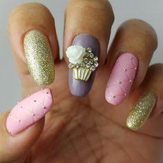 """Sweet Temptation"" manicure jewel from nailcandi.co.za - Reusable & durable nail art - We ship worldwide!"