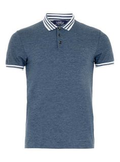 BLUE AND WHITE TIPPED POLO SHIRT - Men s Polo Shirts - Clothing Camisas  Hombre bf06adc5f9338
