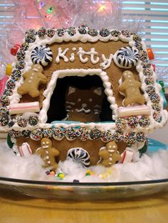 Litter Box Gingerbread House from CookingChannelTV.com
