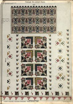 Folk Embroidery, Embroidery Patterns, Cross Stitch Patterns, Romania, Projects To Try, Diagram, Textiles, Symbols, Crafty