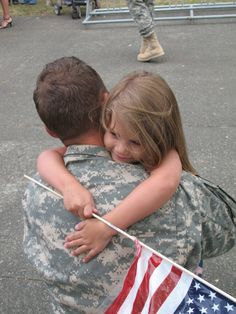 The was our first welcome home back in 2007. Our daughter was 4 and still is a daddy's girl today.
