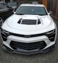 Anderson Composites carbon fiber front lip installed on 2016 Summit White Camaro SS! Maserati, Bugatti, Lamborghini, Ferrari, Camaro Zl1, Chevrolet Camaro, Corvette, Chevy C10, Mc Laren