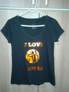 Camisa em Filme de Recorte Siser - I Love Zumba
