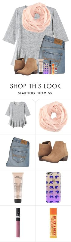 """""""Tomorrow is a new day"""" by hailstails ❤ liked on Polyvore featuring Rebecca Taylor, H&M, Abercrombie & Fitch, Jessica Simpson, philosophy, Casetify, NARS Cosmetics, Burt's Bees, Smathers & Branson and women's clothing"""
