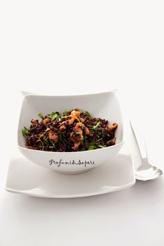 Profumi&Sapori: Insalata fredda di riso venere con rucola, salmone e agrumi