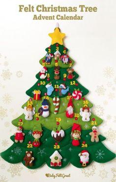 New Diy Christmas Decorations Felt Advent Calendar 64 Ideas Diy Christmas Angel Ornaments, Easy Christmas Crafts, Christmas Angels, Handmade Christmas, Etsy Christmas, Unicorn Ornaments, Christmas Tables, Diy Ornaments