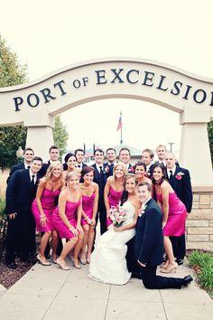 This looks like a fun group! Photo by Angeli #MNweddingphotographers #Wedding Party