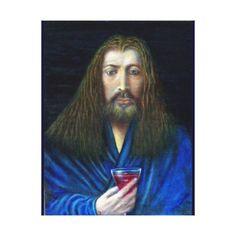 JESUS CHRIST,THE CHALICE CANVAS PRINT